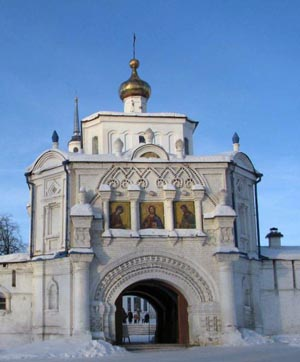 Входные ворота с надвратным Симеоно - Анненским храмом